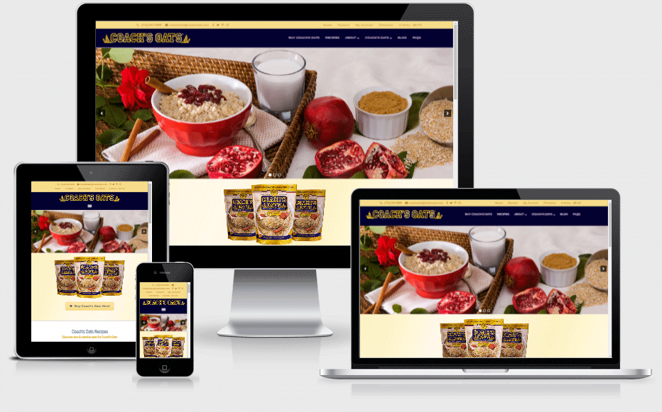 Coach's Oats Mobile Responsive