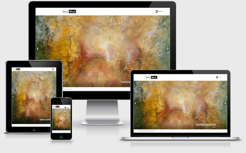Becky Black Art Mobile Responsive