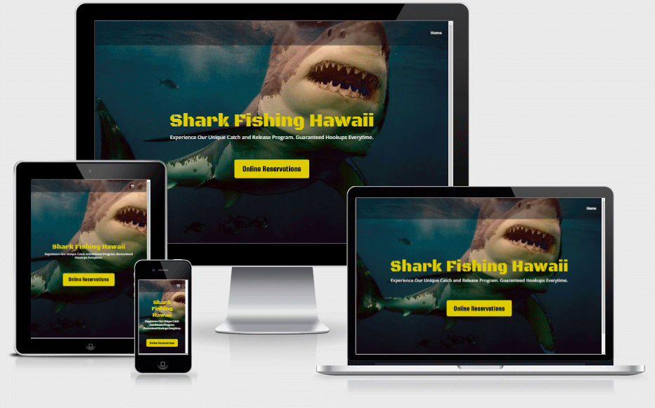 Shark Fishing Hawaii Mobile Responsive