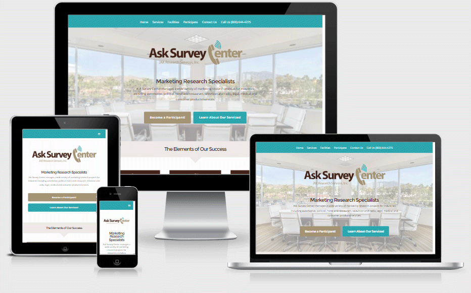 ASK Survey Center Mobile Responsive
