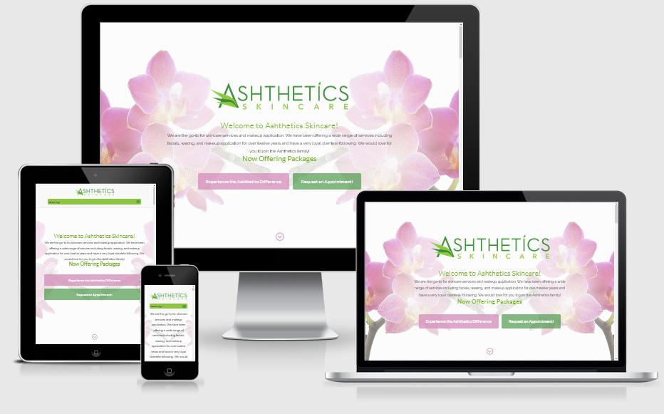 Ashthetics Skincare Mobile Responsive