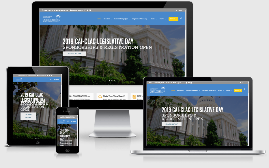 California Legislative Action Committee Mobile Responsive