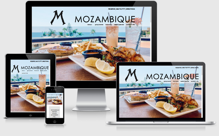 Mozambique Restaurant Mobile Responsive