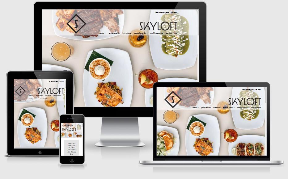 Skyloft Restaurant Mobile Responsive